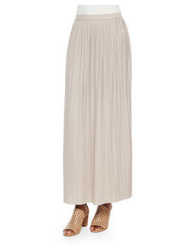 Long Pleated Skirt by Joan Vass