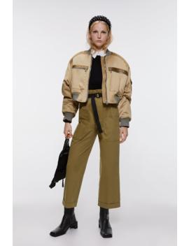 Cropped Satin Effect Bomber Jacket Jacketswoman by Zara