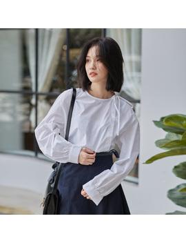 New Autumn Fashion Casual Women Shirts Full Sleeve Loose Port Cotton Taste Design Blouse Shirt White 710 by Ali Express.Com