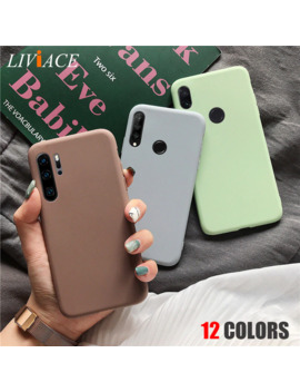 Matte Silicone Phone Case On For Huawei P Smart Plus P20 P30 P8 P9 P10 Lite 2017 2018 2019 Candy Color Soft Tpu Back Cover Funda by Ali Express.Com