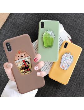 Lovely Drink Cup Case For Huawei P Smart 2019 P30 Pro P20 P9 Lite Mini P8 Lite 2017 P10 Selfie Cute Squishy Bear Tpu Cover by Ali Express.Com