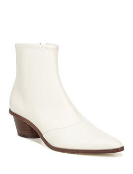 Odette Stretch Leather Booties by Via Spiga