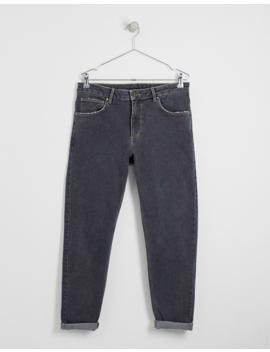 Asos Design – Schmal Zulaufende Retro Jeans In Verwaschenem Schwarz by Asos