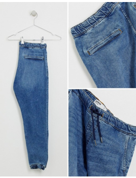 Bershka – Join Life – Jeans Jogginghose Aus Bio Baumwolle In Mittelblauer Waschung by Asos