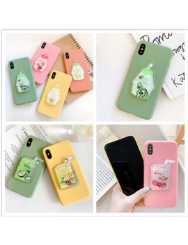 Liquid Phone Case For Huawei P8 P9 Lite 2017 P10 P20 P30 Pro P Smart Plus 2019 Avocado Fruits Bottle Soft Silicone Candy Cover by Ali Express.Com
