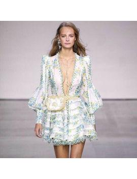 Women Summer Dress Flounce Casual Short Skirt V Neck Long Sleeve Mini Dress by Ebay Seller