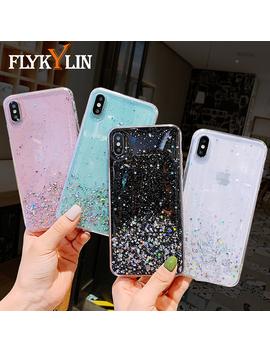 Flykylin Glitter Bling Case For Huawei P30 Pro P20 Lite Mate 20 10 Cover On Nova 3 4 3e 4e Honor 8 X Silver Sequin Silicone Coque by Ali Express.Com