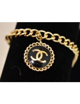 Authentic Gold And Black Charm Repurposed Bracelet by Etsy