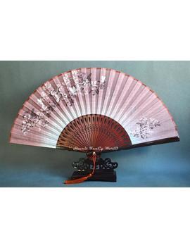 Brown Hand Fan, Cloth Fabric Surface, Japanese Fan Wedding Fan Folding Fan by Etsy