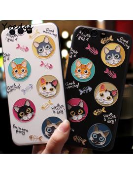Cute Cat Cover For Huawei P8 P9 P10 P20 Mate 10 20 Lite Nova 3 3i Coque For Huawei Honor 8 X 6 A 7 A Pro 9 10 Lite Tpu Emboss Case by Ali Express.Com