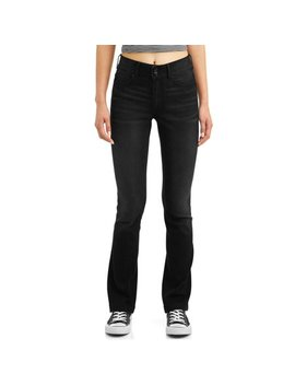 No Boundaries Juniors' High Waisted Bootcut Jeans by No Boundaries