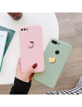 Cute 3 D Fruit Matte Case For Huawei P10 P9 P8 Lite Plus 2016 2017 Lovely Silicone Candy Color Soft Tpu Back Cover Funda Capa by Ali Express.Com