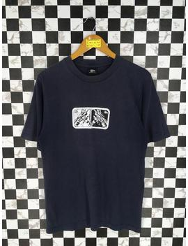 Vintage 90's Stussy Usa Tshirt Medium Stussy Skateboarding Streetwear Stussy Usa Robot Transformer Printed Thrasher Black Tshirt Taille M by Etsy