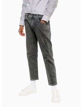 Selected Homme Washed Grey Aldo Organic Cotton Relaxed Jeans by Topman