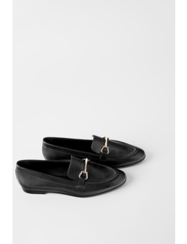 Leather Loafers Back To Office Shoes Woman by Zara