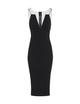 Cotton Blend Midi Dress by Rick Owens