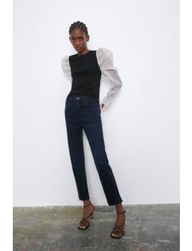 Slim Fitjeans Mit Hohem Bund High Waist Jeans Damen by Zara