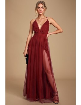 Rare Beauty Burgundy Backless Maxi Dress by Lulu's