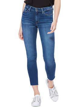 Hoxton High Waist Raw Hem Crop Skinny Jeans (Juni) by Paige