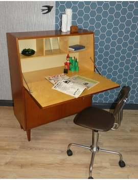 Klassischer 60er Jahre Sekretär Nußbaum Mid Century Sixties Kommode Schreibtisch by Etsy