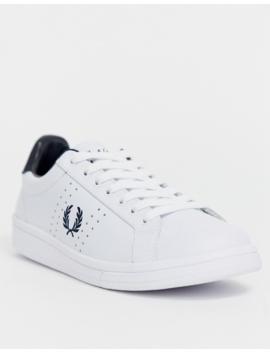 Fred Perry – B721 – Sneakers I Läder Med Logga På Hälen by Fred Perry's