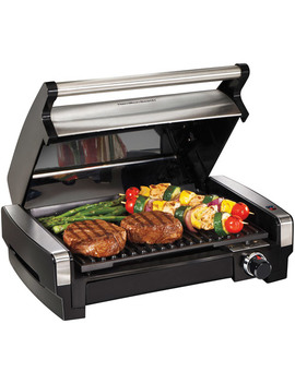 Hamilton Beach Electric Indoor Searing Grill With Removable Plates And Less Smoke | Model # 25360 by Hamilton Beach