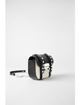 Mini Kanvasskuldertaske I Rock & Roll Stiltasker Trf by Zara