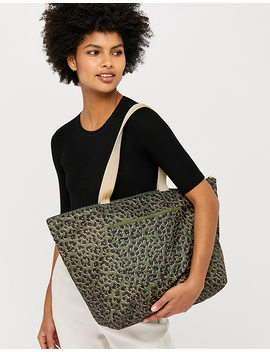 Leopard Packable Tote Bag by Accessorize