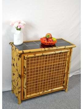 Beistellschrank Schuhscharnk 50er Schrank Kommode Mid Century Rockabilly Vintage Design Commode Bambus Bamboo Furniture Sideboard Nostalgie by Etsy