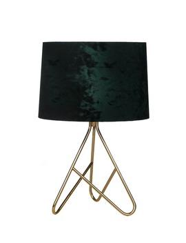 Ziggy Velvet Table Lamp (27cm X 40cm) by Matalan