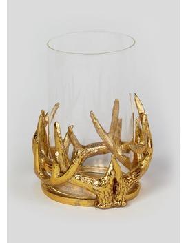 Antler Glass Hurricane Jar by Matalan