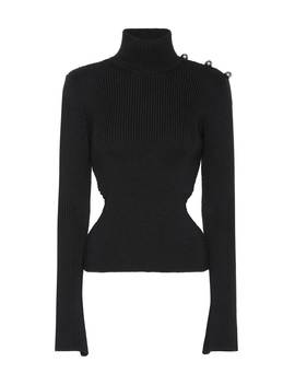 Ribbed Turtleneck Wool Sweater by David Koma