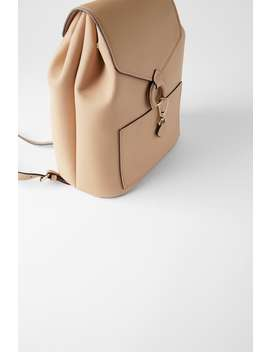 Backpack With Ring Detail And Front Flap View All Bags Woman by Zara