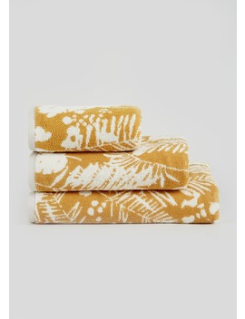 100% Cotton Palm Leaf Towels by Matalan