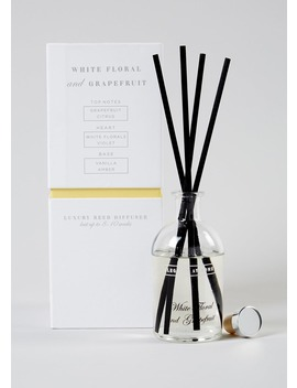 White Floral & Grapefruit Luxury Reed Diffuser (150ml) by Matalan