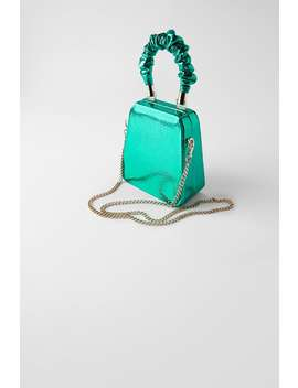 Blue Collection Clutch Box Bag by Zara