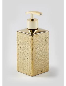 Hammered Soap Dispenser by Matalan