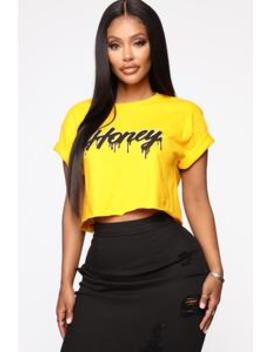 Thick Like Honey Crop Top   Mustard by Fashion Nova