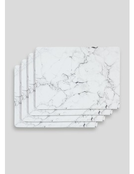 4 Pack Marble Place Mats (29cm X 22cm) by Matalan