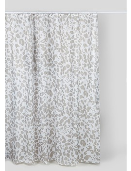 Animal Print Shower Curtain (180cm X 180cm) by Matalan