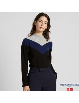 Women Ines Cashmere Mock Neck Jumper by Uniqlo