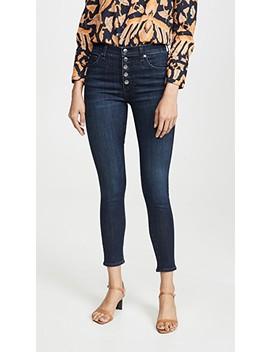 Debbie High Rise Skinny Long Jeans by Veronica Beard Jean