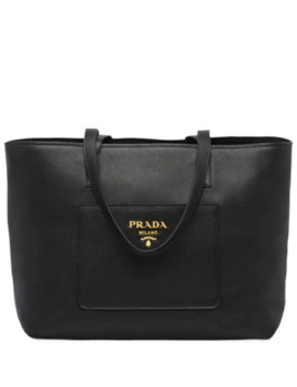 Large Leather Tote by Prada