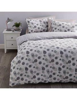 Mono Monochrome Reversible Duvet Cover And Pillowcase Set by Dunelm