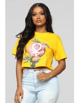 I Was Born To Flex Top   Mustard by Fashion Nova