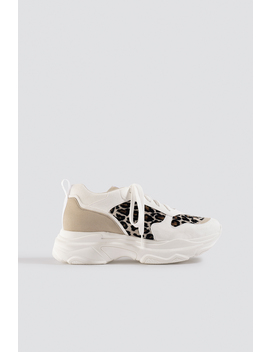 Leopard Chunky Trainers White by Na Kd Shoes