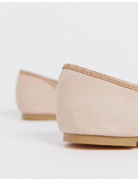 Park Lane Wide Fit Pointed Ballet Flat In Beige by Asos