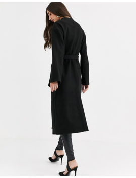 Fashion Union Tall Longline Wool Coat With Belt by Fashion Union's