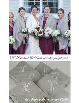 Bridesmaid Gift Shawl, Ivory Blanket Scarf, Bridesmaid Winter Wrap, Blanket Throw Wedding, Pashmina Shawl Wool, Monogrammed Scarf, Proposal by Etsy
