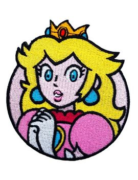 Princess Peach Patch (3 Inch) Super Mario Brothers Iron On Badge Costume Patches by Ebay Seller